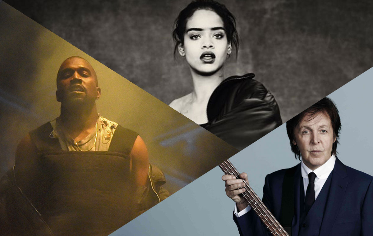 "Rihanna & Kanye West Featuring Paul McCartney ""FourFiveSeconds"""