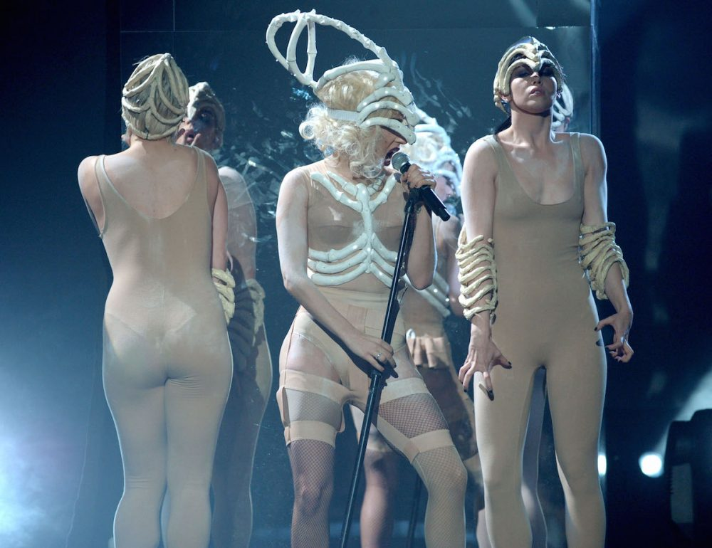 LOS ANGELES, CA - NOVEMBER 22: Singer Lady Gaga performs onstage at the 2009 American Music Awards at Nokia Theatre L.A. Live on November 22, 2009 in Los Angeles, California. (Photo by Kevin Winter/AMA2009/Getty Images for DCP) *** Local Caption *** Lady Gaga