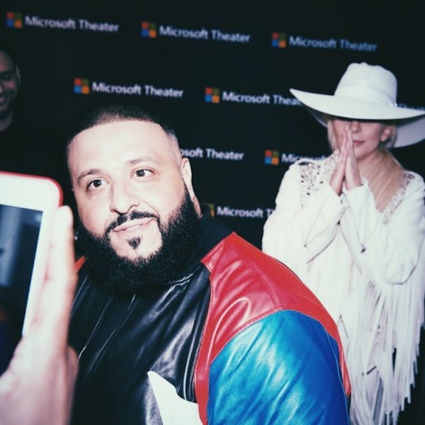 DJ Khaled and Lady Gaga Backstage at the 2016 AMAs (American Music Awards)