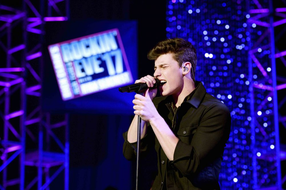 Shawn Mendes performs at Dick Clark's New Year's Rockin' Eve with Ryan Seacrest