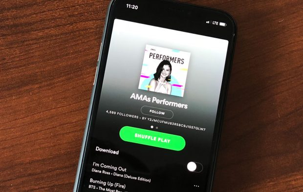 Big Deal Alert: The AMAs Are On Spotify!