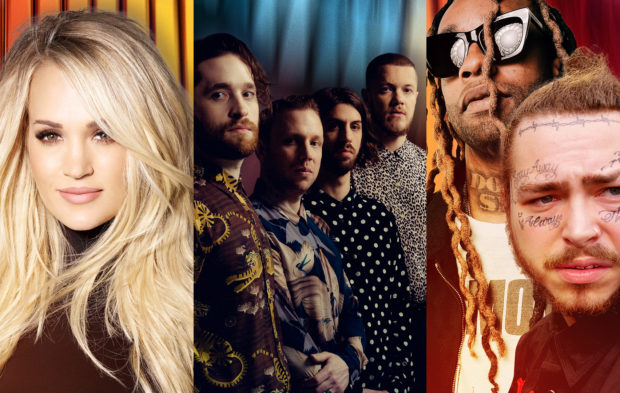 Carrie Underwood, Imagine Dragons & Post Malone to Perform
