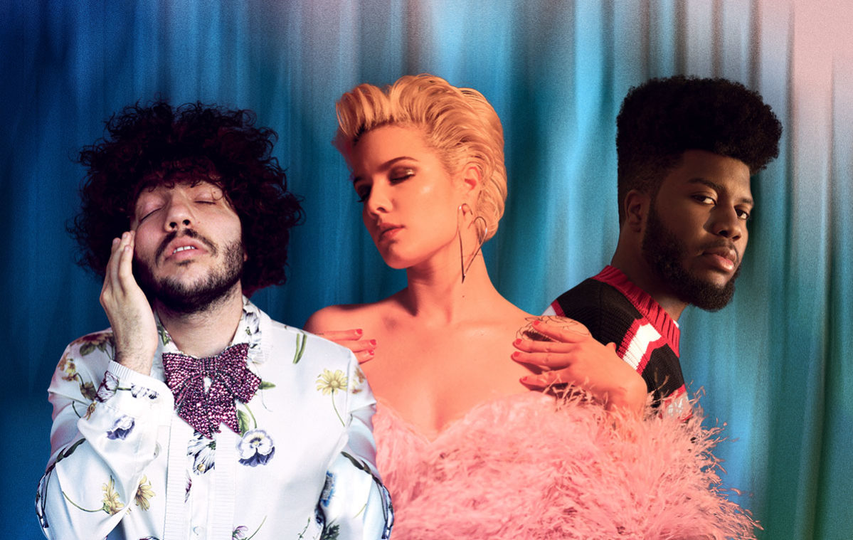 Benny Blanco with Halsey and Khalid